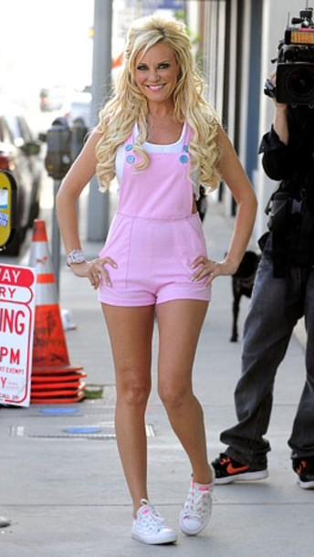 jumpsuit pastel pink playboy girls next door brisget marquardt pajamas pajamas bunny bunnies overalls