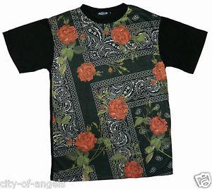 Floral Bandana Roses Sublimated Hip Hop Swag Urban Wear Mens T Shirt Konflic