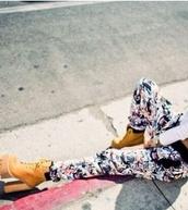 shoes,timberlands,boots,yellow,high heels,block heels,karmaloop,jeffrey campbell,pretty,pants