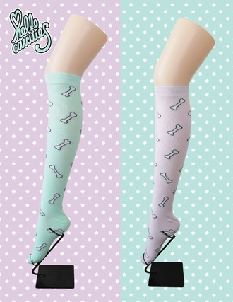 socks pastel goth knee high socks stockings lolita pastel grunge kawaii kawaii accessory