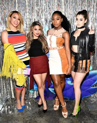 skirt top crop tops fifth harmony sandals dinah hansen dinah jane hansen ally brooke lauren jauregui normani kordei hamilton normani hamilton