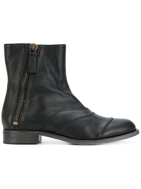 Chloe women ankle boots leather black shoes
