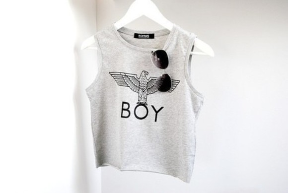 shirt grey top tank top clothes thank top grey grey tank top boy boy londen eagle sleeveless cool grunge boy london
