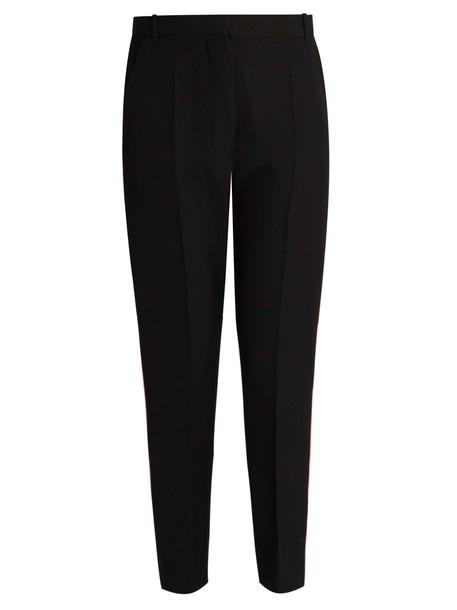 cropped wool black pants