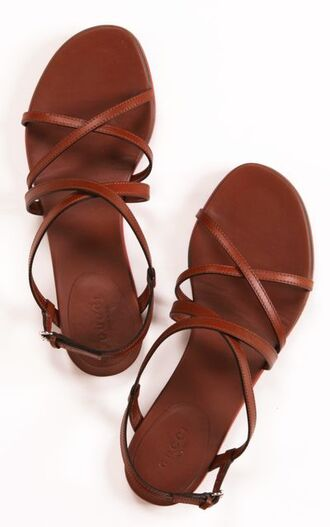 shoes sandals boho bohemian brown leather sandals