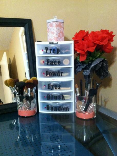 Home Accessory Makeup Organizers Organizer Makeup Table