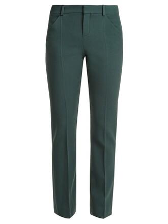 wool green pants