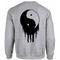 Yin yang blood sweatshirt back