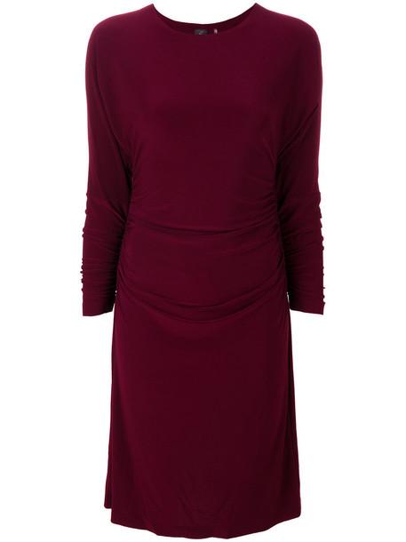 Norma Kamali dress women spandex purple pink