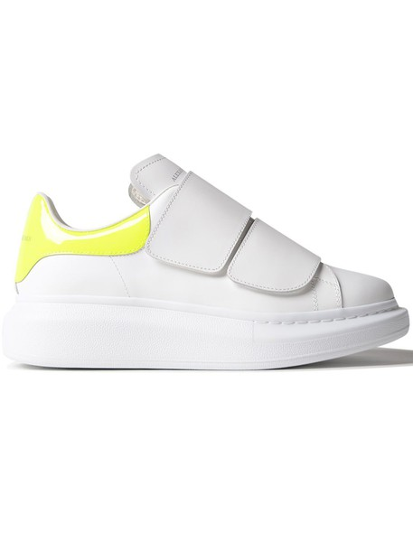 Alexander Mcqueen leather fluo white yellow shoes