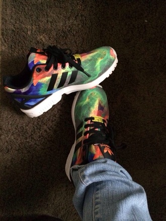 shoes adidas shoes pretty style sneakers colorful trendy casual adidas fashion flux adidas