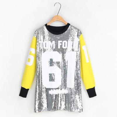 "Yonce ""tom ford 61"" sequin long sleeves sweatshirt – glamzelle"