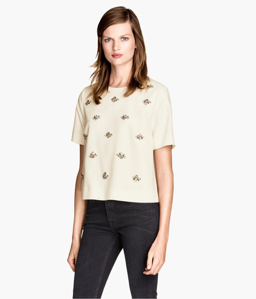 H&M Top with Rhinestones $39.95