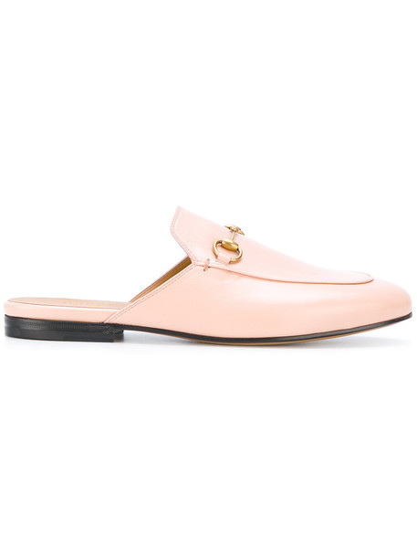gucci women slippers leather purple pink shoes