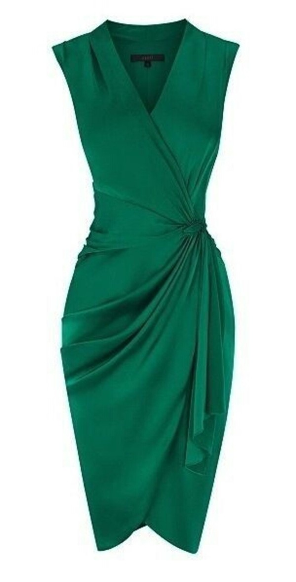 Coast Lavinia Green Cocktail Dress Size 18 Ebay