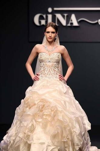 dress wedding dress evening dress high-low dresses prom dress designer bag gina rodriguez colorful