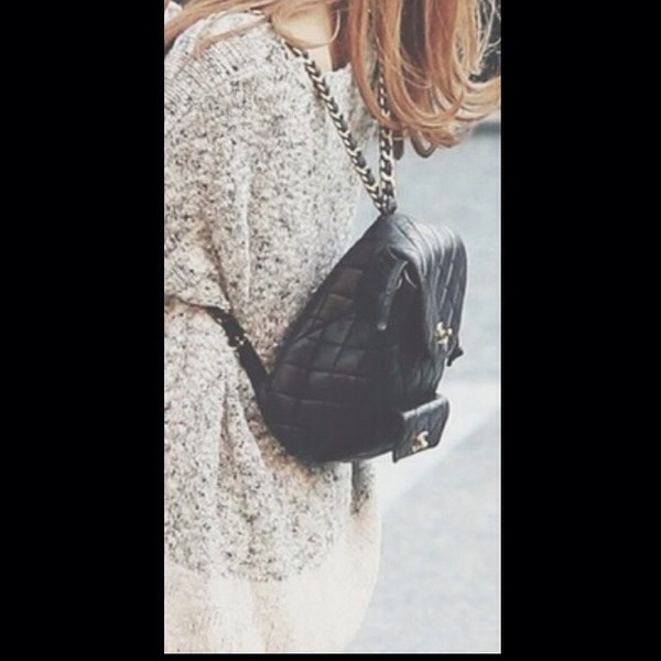 bag black chanel bag fahsion ariana chanel