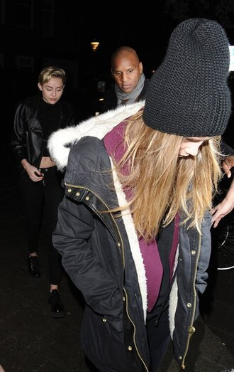 coat cara delevingne beanie fur victoria's secret model sweater