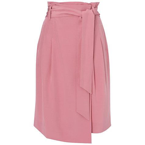 Buy jaeger faille silk wrap skirt, light pink online at john lewis