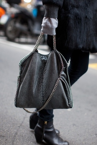 bag chain stylish style fashion handbag like stella mccartney