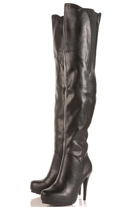 BUNNY2 PU Stretch Thigh High Boots - Boots  - Shoes  - Topshop