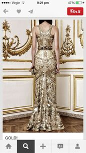 gold,gold sequins,studs,embellished dress,evening dress,metallic,givenchy,dress