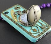 jewels,phone cover,paris,clock,feathers,heart