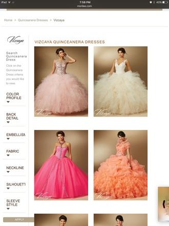 dress quinceanera dress