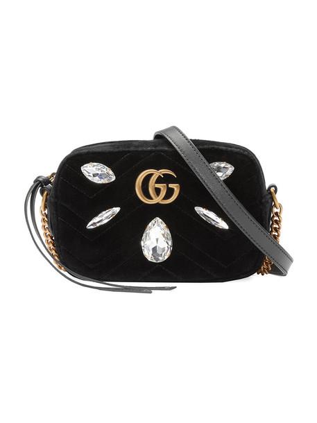 gucci mini metal women bag mini bag black silk velvet