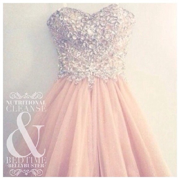 dress strapless dress mini dress peach dress sequence sequin dress sequin prom prom dress mini prom dress nude nude dress peach pink dress rinestones