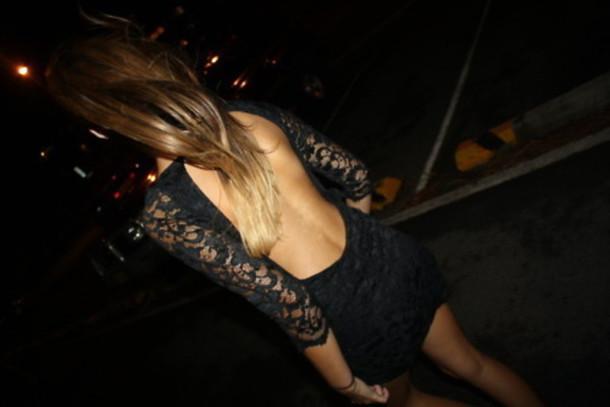 dress black lace opened back dress lace dress backless party backless little black dress clothes skirt backless dress long sleeve dress little black dress