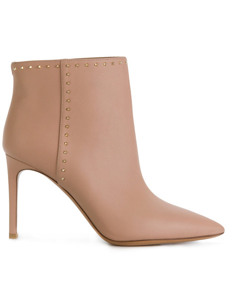 Valentino women boots leather purple pink shoes