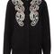 Black floral embroidered jessie blouse