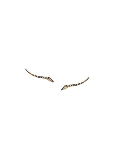 Polina Sapouna Ellis women earrings gold yellow grey metallic jewels