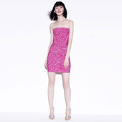 dress,bqueen,pink,fashion,girl,sexy,chic,bandage,party,jacquard
