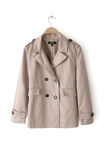 Double Breasted Suit Collar Coat [FFBI0244]- US$40.26 - PersunMall.com