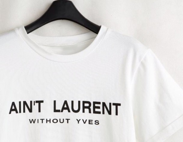 shirt graphic tee saint laurent