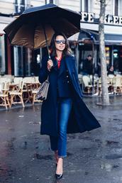 viva luxury,blogger,coat,jewels,dionysus,blue coat,sunglasses,cropped jeans,black heels,gucci,kick flare,cropped bootcut jeans,cropped bootcut blue jeans,blue long coat