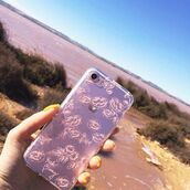 phone cover,yeah bunny,roses,peony,pastel,iphone case,iphone cover,transparent,clear