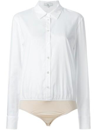 bodysuit women spandex white cotton underwear