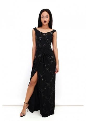 dress black black dress maxi dress prom dress long prom dress prom gown sequin dress long dress