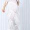 White jumpsuit multi tiered fringe on storenvy