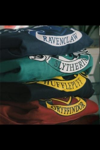 sweater huffepuff slytherin ravenclaw sweatshirt sweater/sweatshirt gryffindor harrypotter