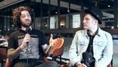shirt,fall out boy,joe trohman,asian,mountains,black and white,characters,interview
