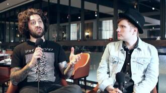 shirt fall out boy joe trohman asian mountains black and white characters interview
