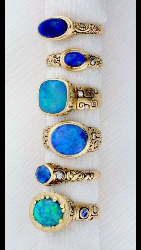 jewels turquoise ring metal ring patterned rings opal jewelry set ring