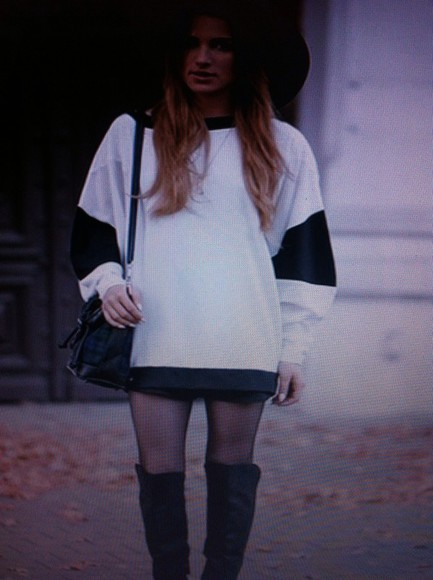 sweater pull white black winter sweater white sweater black sweater black pullover white pullover find it tumblr