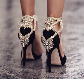shoes black heels gold sequins embellished classy blogger sparkly high heels heels standout
