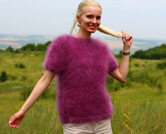blouse hand knit made supertanya mohair sweater jumper alpaca cashmere wool angora soft fluffy