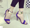 Aliexpress.com : buy black/red/purple fashion 2015 metal strip velvet open toe sexy stiletto sandals high heel thin heel ladies party shoes on anna's world.
